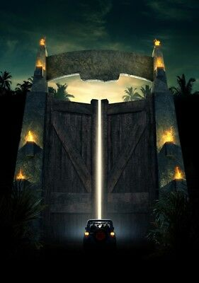 JURASSIC PARK Movie PHOTO Print POSTER Textless Film Art Gates Jeep Classic 004