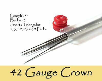 42 Gauge crown felting needles.