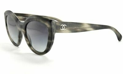 d639c85c63 Chanel 5331 1536 S6 Grey Stripe   Grey Gradient Cat Eye Sunglasses