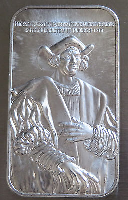 Christopher Columbus Chattanooga 1973 Art Bar .999 Fine Silver Vintage 1 Troy Oz