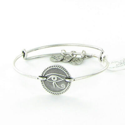 Alex and Ani Eye of Horus Horizontal Bracelet Russian Silver Retired RARE NWT