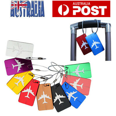 7X Luggage Tags Suitcase Bag Tag Name Address Tag For Travel Holiday Aluminium