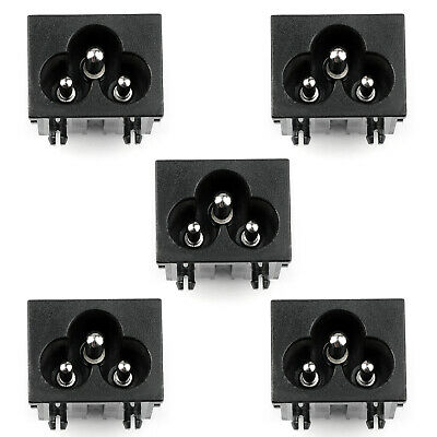 5PCS IEC320 C6 3 Pin Male Power Socket With Switch 2.5A 250V Pour Boat AC-30A AF
