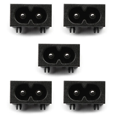 5PCS IEC320 C8 2 Pin Male Power Socket With Switch 2.5A 250V Pour Boat AC-20A AF
