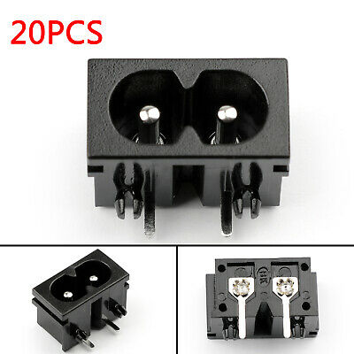 20x IEC320 C8 2 Pin Male Power Socket With Switch 2.5A 250V Pour Boat AC-20B AF