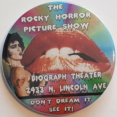 Rocky Horror Picture Show Biograph Theater Frankenfurter Lips Button Pin Badge
