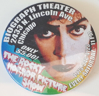 Rocky Horror Picture Show Biograph Theater Frankenfurter Button Pin Badge