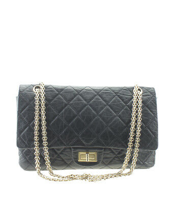 b177b68582a CHANEL A37590 2.55 Reissue Double Flap Black Quilted Leather Bag ...