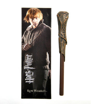 Ron Weasley Stylo Wand & Marque-Pages - Noble Collection Harry Potter Réplica