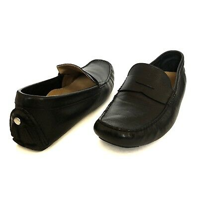 4185e9cb7dd COLE HAAN Howland Penny Loafer Black Leather Men s Size 14 Driving Shoes  C04535