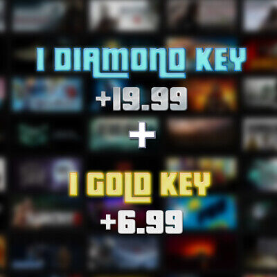 1 DIAMOND Random Steam Key [+$19.99*] + 1 GOLD Steam Key [+$6.99**] - SALE!