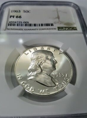 1963 PF66 Franklin Half Dollar Proof - Cameo both sides