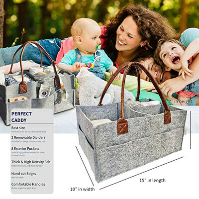The Good Baby Diaper Caddy - Nursery Storage Bin and Car Organizer for Diapers