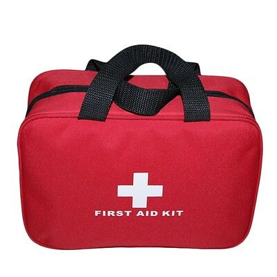 AU Portable Sports Camping Home Medical Emergency Survival First Aid Kit Bag C#