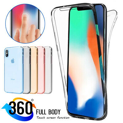 Ultra Slim Shockproof TPU Gel 360° Full Cover Case for iPhone XS Max/XR X 6 7 8+