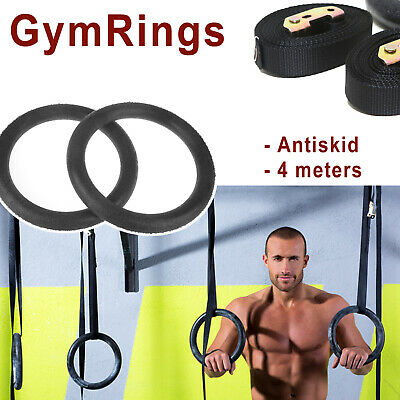 Gymnastic ABS Olympic Rings Crossfit Gym Fitness Training Exercise Hoop Straps