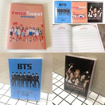 KPOP BTS Stationery Notebook Bangtan Boys Cover Diary Travel Journal Book New UK
