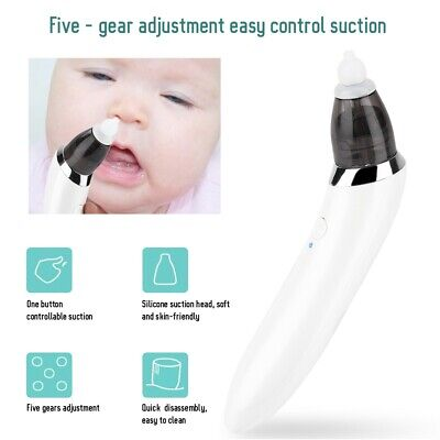 Baby Nasal Aspirator Electric Safe Hygienic Nose Cleaner Nasal Suction Machine