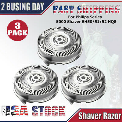 3x Shaver Razor Replacement Blades SH50/52 for Philips Norelco Series 5000