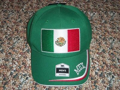f2ded2b100f (Nwt) Fan Favorite Mexico Soccer Hat With Adjustable Hook And Loop Closure