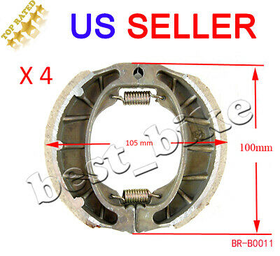 105mm GY6 Scooter Rear Front Drum Brake Shoes 50cc 125cc 150cc Moped 4 sets