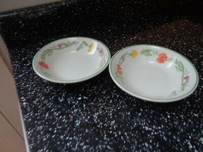 Johnson Brothers Summer Delight Fruit Saucers X 2