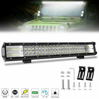 20 inch Tri-row CREE LED Light Bar Spot Flood Combo Driving Offroad 4WD Truck