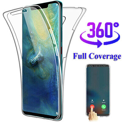 For Huawei Mate 20 Pro/P20 Lite P Smart 2019 360° Full Body Clear TPU Case Cover