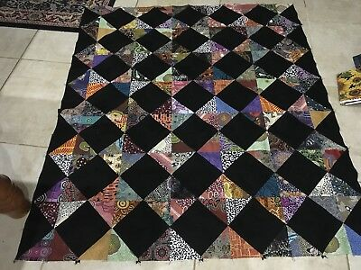 Unfinished Quilt Top 58 X 50 Inches Approx
