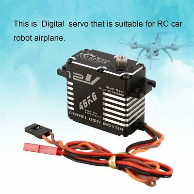 JX CLS-12V7346 46KG Metal Steering Digital 12V HV Coreless Servo for RC Car ND