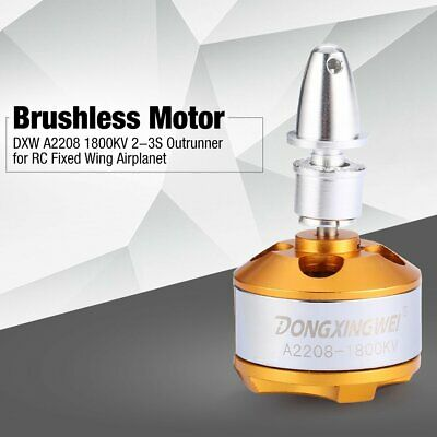 DXW A2208 1800KV 2-3S Outrunner Brushless Motor for RC Fixed Wing Airplane ND