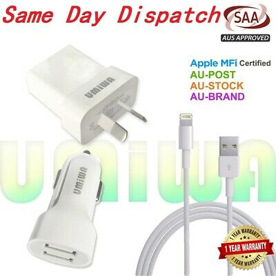 Genuine Usb Wall Plug Car Charger Cable-Apple Iphone Xr X Xs Max Plus 5 6 7 8 Se
