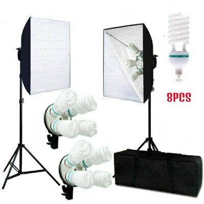 2X Photography Lighting Softbox Stand Photo Vedio Studio Continuous Light Kit TO
