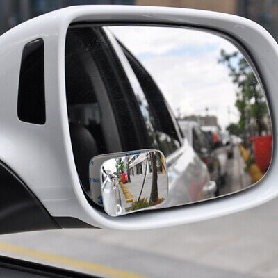 2X Blind Spot Mirror Rimless HD Glass Wide Angle 360° Convex Mirrors Rearview HB