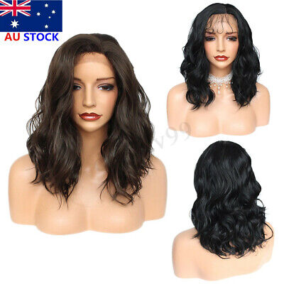 14'' Women Short Bob Lace Front Wig Synthetic Full Head Hair Wigs Heat Resistant