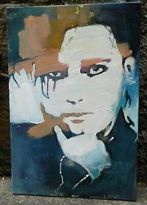 VINTAGE Robert Smith The Cure Art Painting