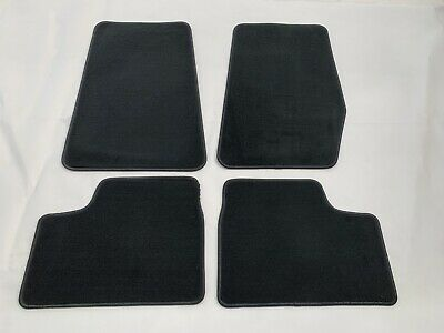 4pc Car Mat Set Front And Rear Charcoal Plush Universal Fit Textile
