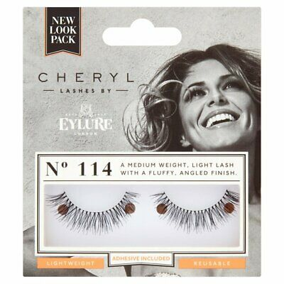 756e6bd0ced EYLURE False Eyelashes CHERYL No. 114 Light Lashes Reusable With Adhesive