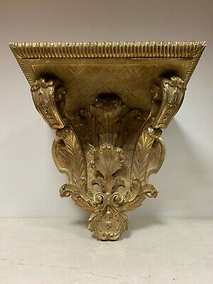 Large Wall Bracket - Antique 19th Century Ornately Carved and Gilded