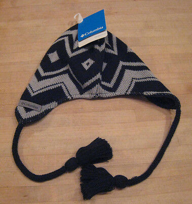 3b3ca9ac950 Columbia Youth Winter Worn Peruvian Snow Hat One Size Gray Black New NWT  CY9982