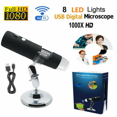 WIFI 1000X USB Microscopio Senza fili Digitale HD Camera 8 LED Endoscopio