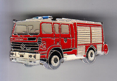 Rare Pins Pin's .. Pompier Fire Camion Truck Renault Pompe Camiva ~Co