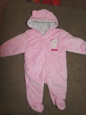 f0992c11e CHILD OF MINE Carter s Gray Carseat Snowsuit Bunting Pram Size 3-6 ...
