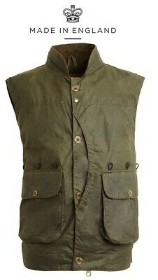 Mens Lewis Creek Waxed Cotton Vest Waistcoat Hunting Shooting Country Hiking UK