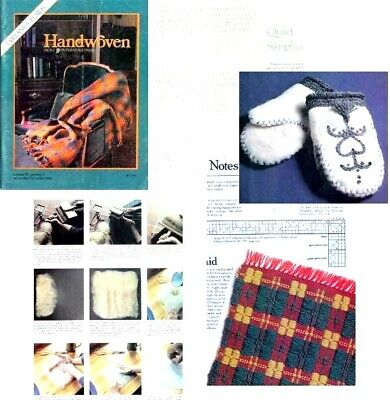 Handwoven magazine November December 1983: TARTANS & PLAIDS, hand felted mittens