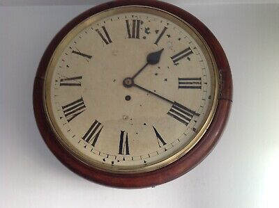 A Nice Victorian Round Fusee Wall Clock.