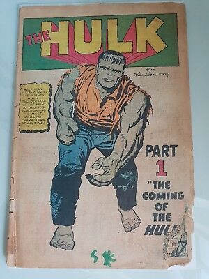Incredible Hulk #1 1962 1st Appearance of the Hulk Marvel Silver Age Key