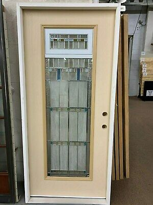 Prime Full Lite Vented Patina Decorative Glass Textured Fiberglass Entry Door New Home Interior And Landscaping Pimpapssignezvosmurscom