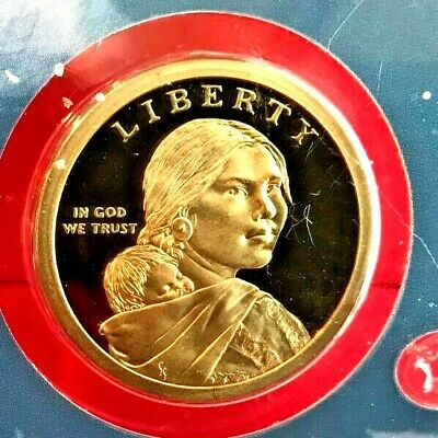 2009  P D S SACAGAWEA DOLLAR GEM PROOF from Proof Sets &atin Mint Set (3 Coins)