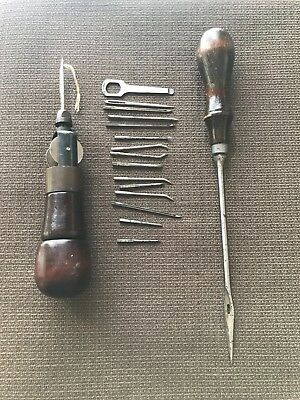 "1905 OLD/VTG ""AWL FOR ALL"" Leatherworking Sewing antique/rare PLUS"